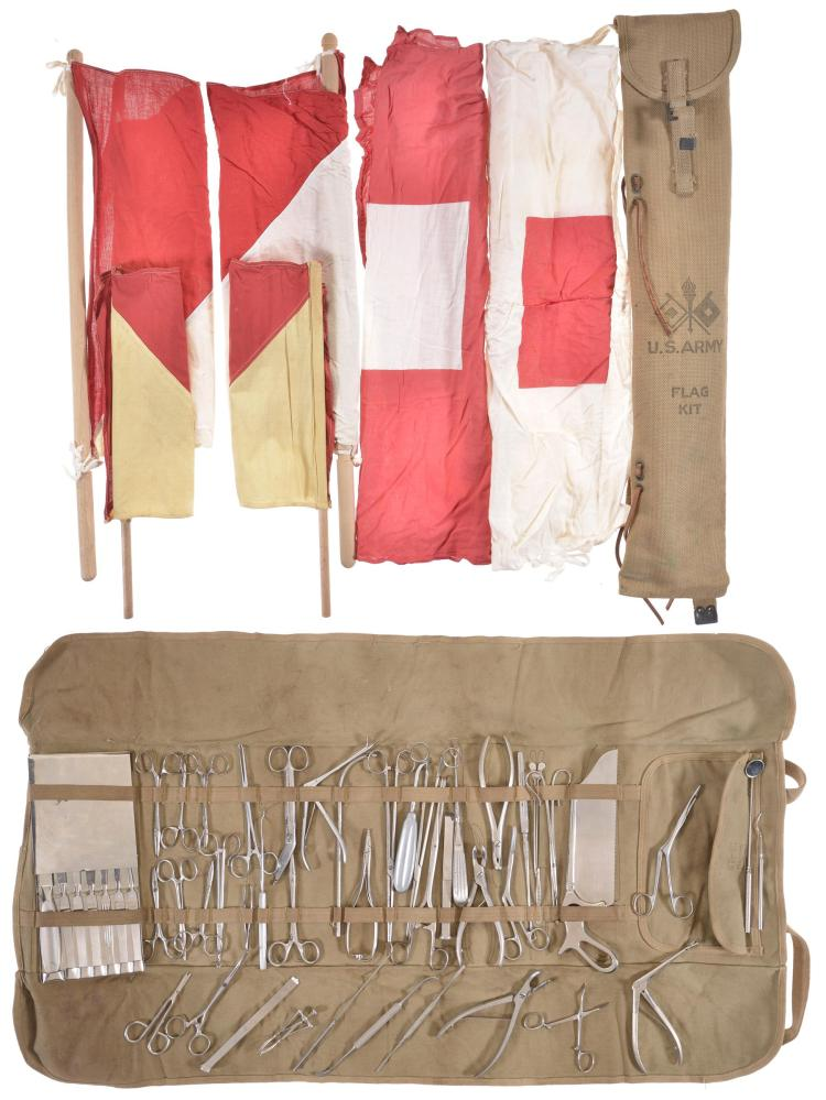 US Army Flag Kit and Field Surgery Kit
