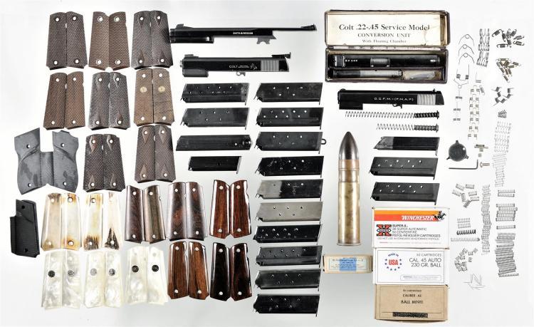 Assorted Handgun Parts and Accessories