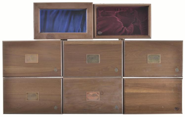 Eight Assorted Wood Cases