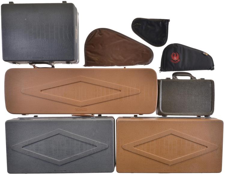 Eight Various Size Gun Cases