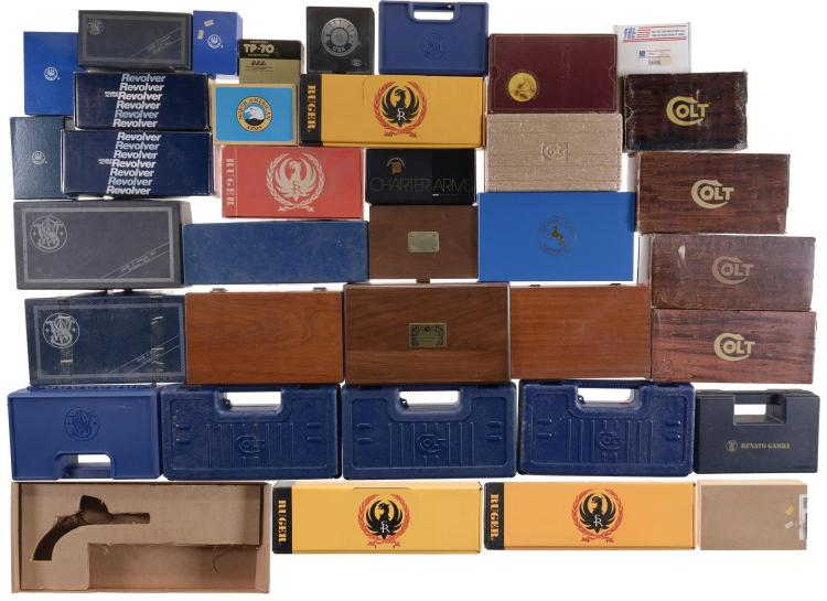 Group of Assorted Handgun Boxes and Cases