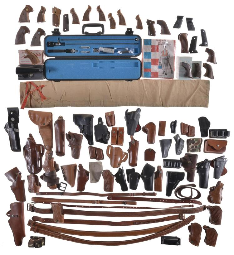 Group of Firearm Holsters, Tools, and Accessories