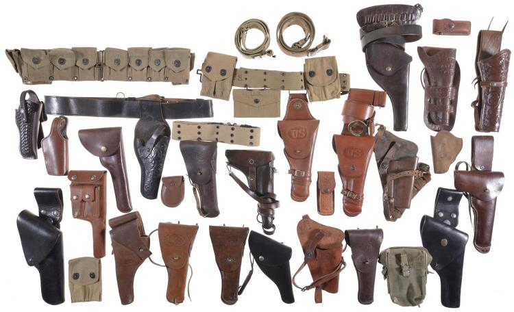 Group of Handgun Holsters and Accessories