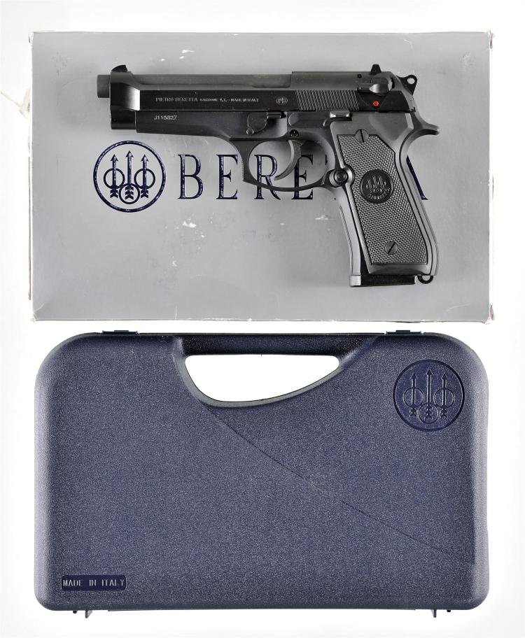 Beretta Model 92FS Semi-Automatic Pistol with Matching Box and Case