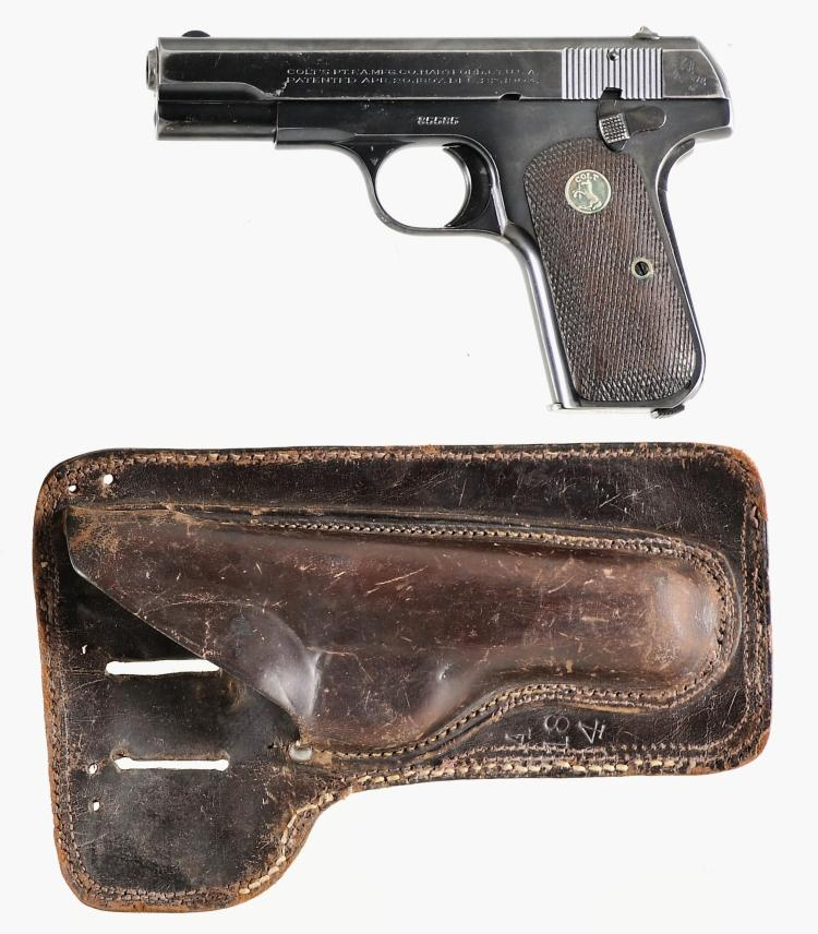 Colt Model 1908 Pocket Hammerless Semi-Automatic Pistol with Holster