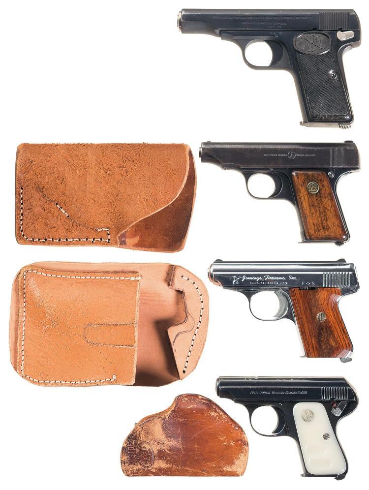 Four Semi-Automatic Pistols -A) Fabrique Nationale Model 1910 Pistol