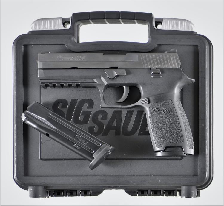 Sig Sauer P250 Semi-Automatic Pistol with Matching Case and Accessories