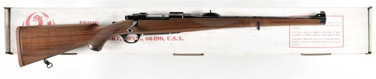 Ruger Model M77 Bolt Action Carbine with Box and Scope Rings