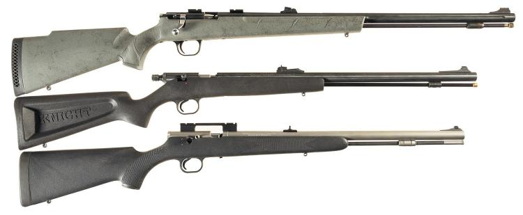 Three Inline Muzzle Loading Rifles -A) Winchester X-150 Rifle