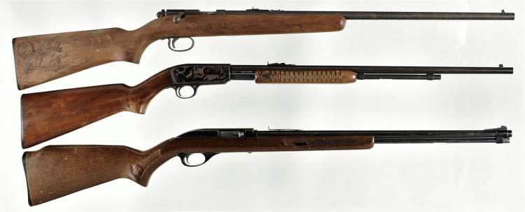 Three Long Arms -A) Remington Model 514 Bolt Action Rifle