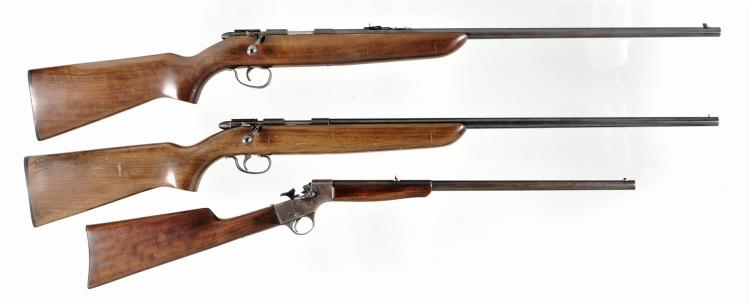 Three Single Shot Rifles -A) Remington Model 510 Targetmaster Bolt Action Rifle