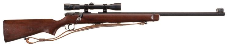 U.S. J. Stevens Model 416 Bolt Action Single Shot Rifle with Scope