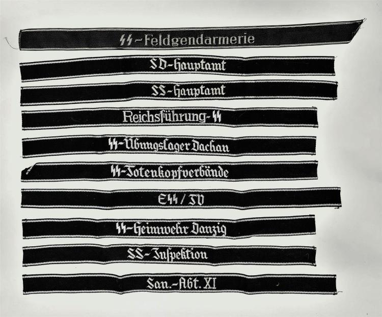 Group of 10 Nazi-Style Armbands