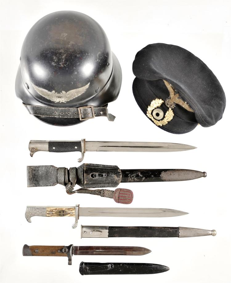 German Style Headgear and Edged Weapons