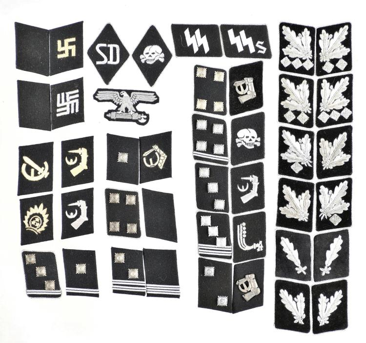 Group of 43 Nazi-Style Uniform Patches