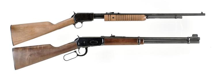 Two Rifles -A) Rossi Model 62 Slide Action Rifle