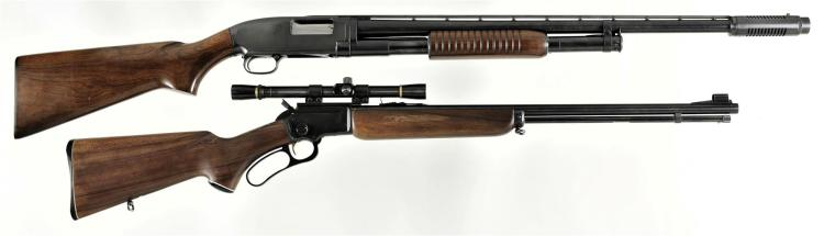 Two Long Guns -A) Winchester Model 12 Slide Action Shotgun