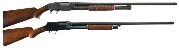 Two Sporting Slide Action Shotguns -A) Savage Arms Model 1921 Shotgun