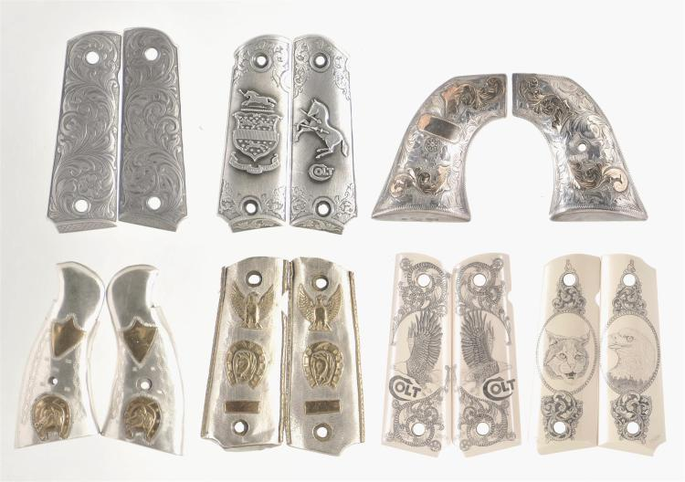 Seven Sets of Decorative Handgun Grips