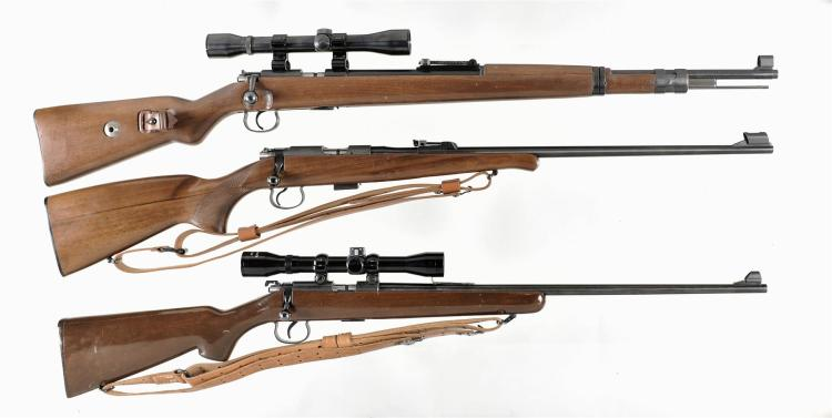 Three Bolt Action Rifles -A) Norinco TU-KKW Bolt Action Rifle with Weaver Scope