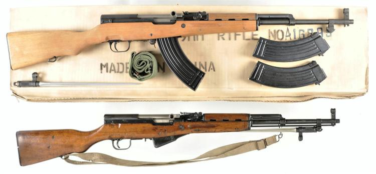 Two Chinese Semi-Automatic Rifles -A) Norinco SKS Rifle with Accessories
