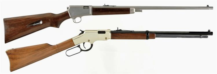 Two Rifles -A) Winchester Model 63 Semi-Automatic Rifle