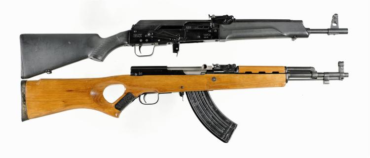 Two Semi-Automatic Rifles -A) Saiga Model AK-47 Rifle