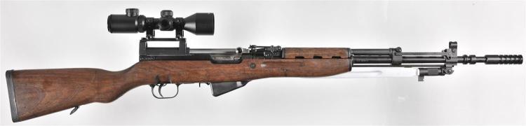 Zastava Model M59/66A1 Semi-Automatic Rifle with Barska Scope, Folding Bayonet, and Flash Suppressor
