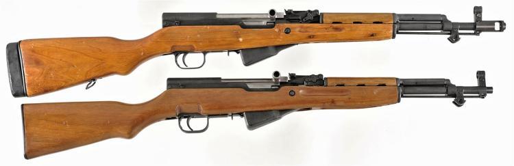 Two Semi-Automatic Long Guns -A) Norinco SKS Rifle