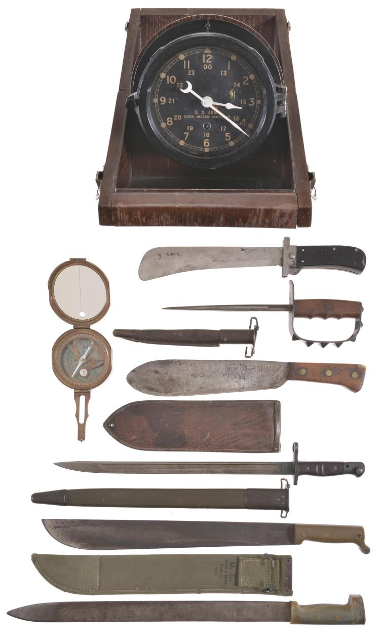 Assorted Military Edged Weapons and Memorabilia