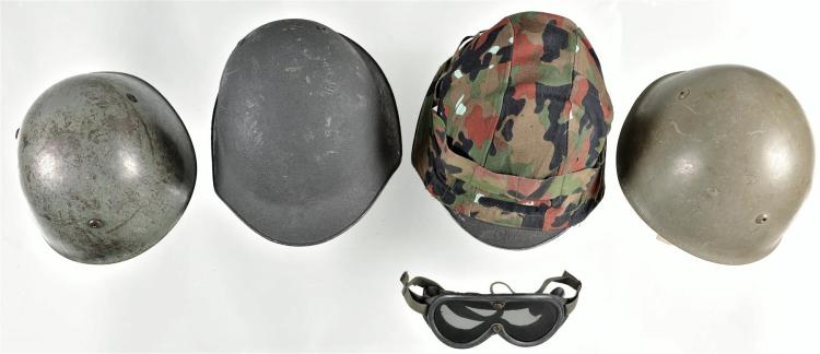 Four European Military Style Helmets