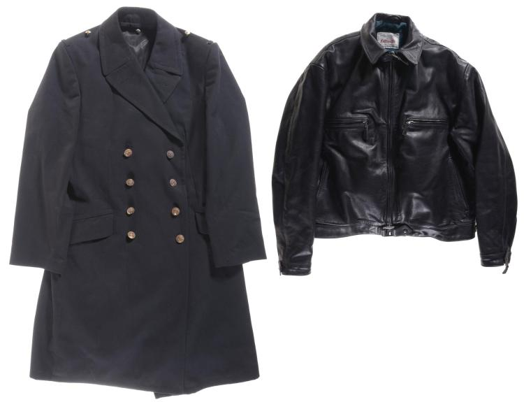 One Trench Coat and One Leather Jacket