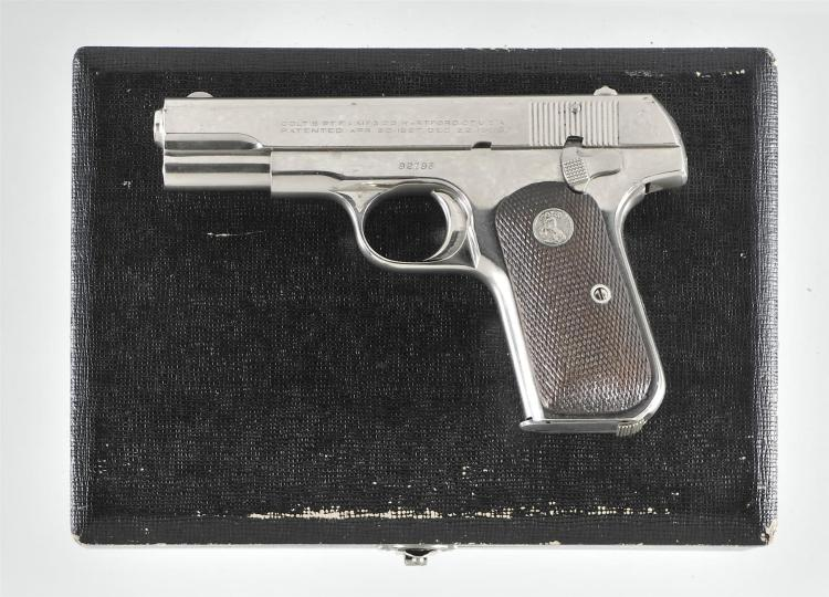 Colt Model 1908 Hammerless Semi-Automatic Pistol with Case