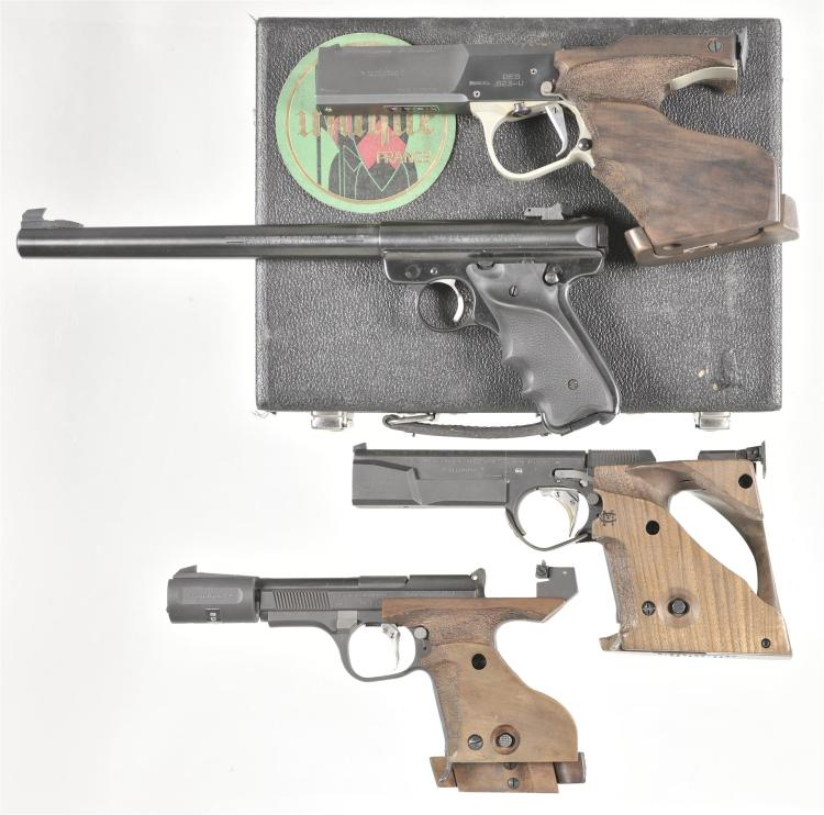 Four Semi-Automatic Pistols -A) Pyrenees Unique Model Vitesse Olympique Pistol