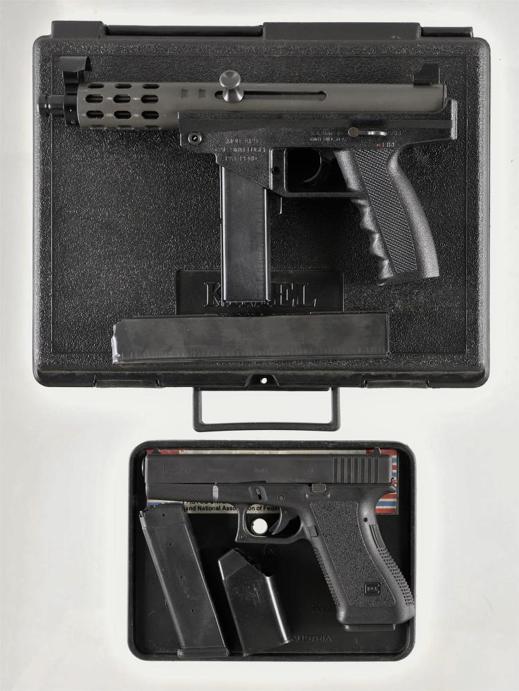 Two Semi-Automatic Pistols -A) AA Arms Model AP-9 Pistol