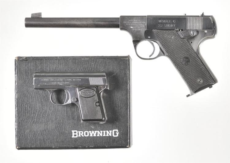 Two Semi-Automatic Pistols -A) High Standard Model C Pistol