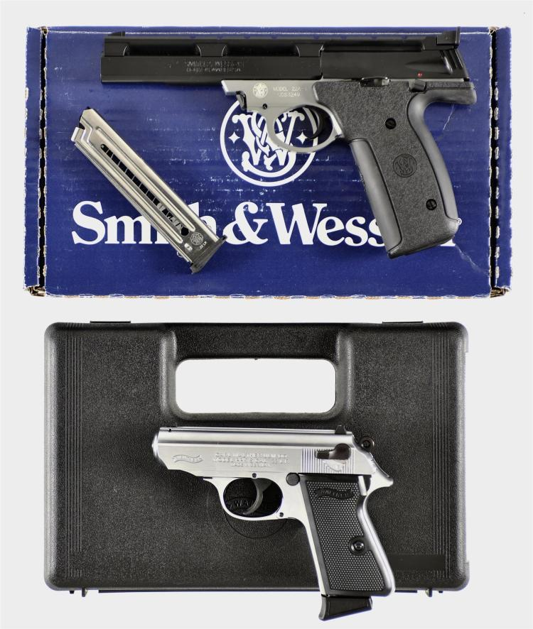 Two Semi-Automatic Pistols -A) Smith & Wesson Model 22A-1 Pistol with Matching Box
