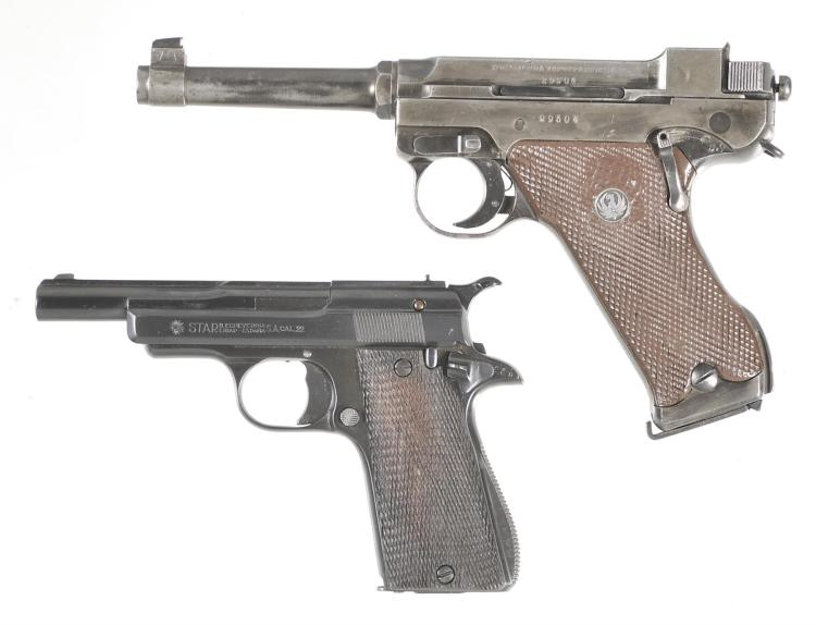 Two Semi-Automatic Pistols -A) Swedish Husqvarna Lahti Model 40 Pistol