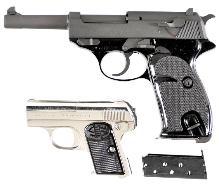 Two Semi-Automatic Pistols -A) Walther Model P1 Pistol