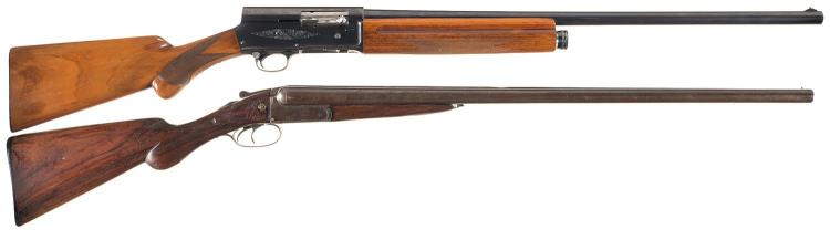 Two Shotguns -A) Engraved Belgian Browning Auto 5 Semi-Automatic Shotgun