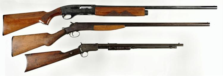 Two Shotguns and One Rifle -A) Remington 16 Gauge Sportsman 58 Semi-Automatic Shotgun