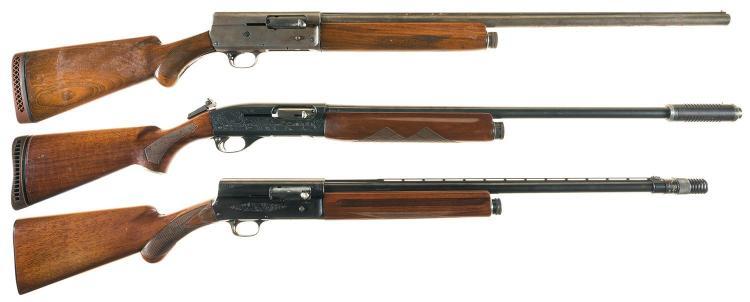 Three Semi-Automatic Shotguns -A) Remington Model 11 Shotgun