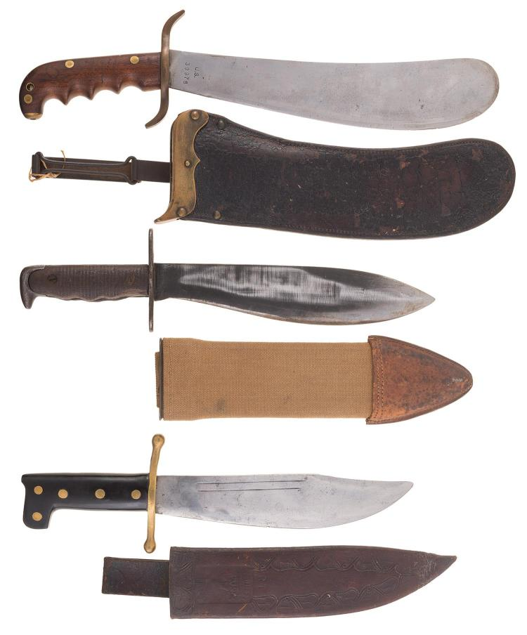 Grouping of Three Large Knives