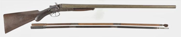 Engraved Isaac Hollis and Sons Double Barrel Shotgun