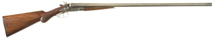 Engraved J.P. Lower & Sons Fowler Double Barrel Hammer Shotgun