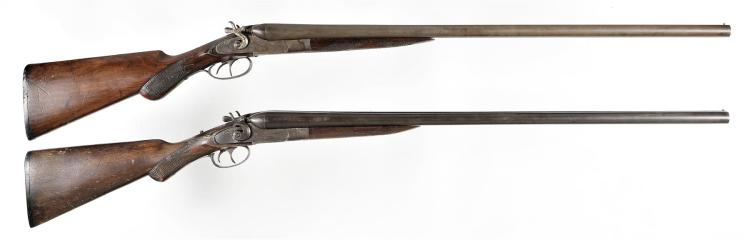 Two Double Barrel Shotguns -A) American Gun Company Hammer Shotgun