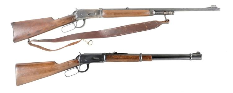 Two Lever Action Rifles -A) Winchester Model 1894 Rifle