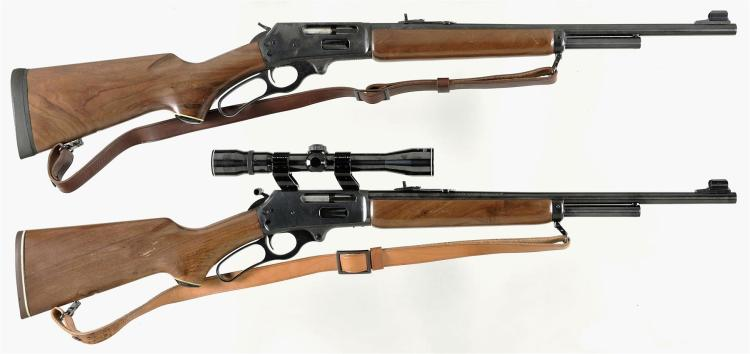 Two Lever Action Carbines -A) Marlin Firearms Model 336ER Carbine with Sling