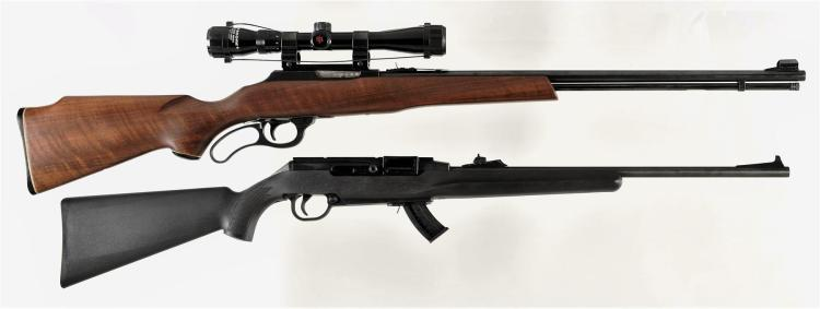 Two Rifles -A) Marlin Model 57M Lever Action Rifle with Scope