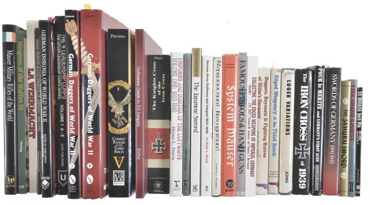 Twenty-Eight WWII Axis Powers Weaponry and Assorted Books